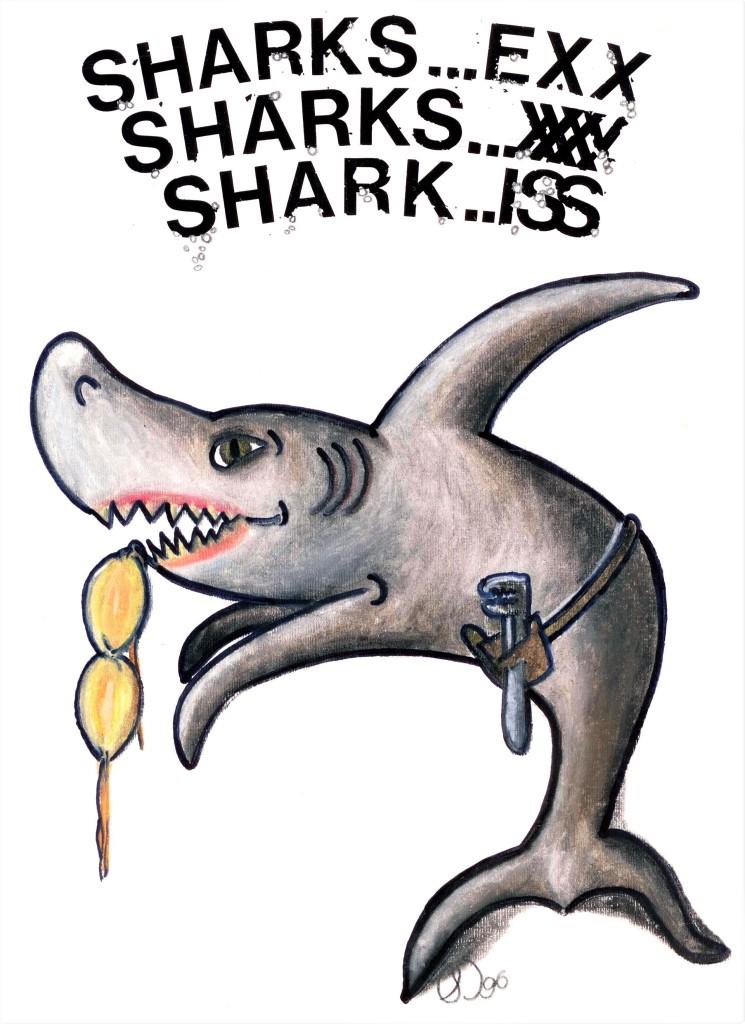 Sharks for a plumbing group Reno-Depot 1996